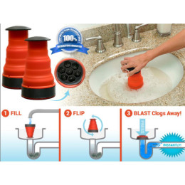 Manual Toilets Bath Kitchen Sink Plunger Cleaner Pump Tools