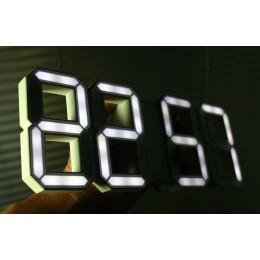 White Digital LED Clock