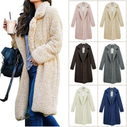 Women Winter Plush Fluffy Fleece Fur Jacket