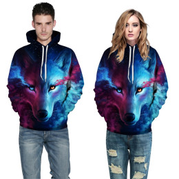 Cool Wolf Print Autumn Winter Fashion Casual Shirts