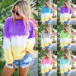 Multicoloured long sleeve top blouse