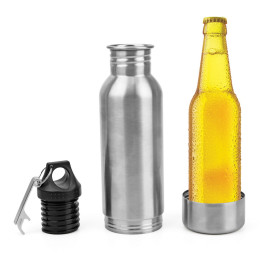 304 Stainless Steel Beer Bottle Holder Cold Insulation Cover Portable Glass Bottle
