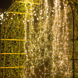 led copper wire light string waterfall light