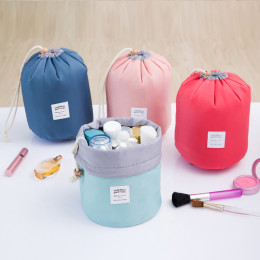 Large capacity Cylinder waterproof cosmetic bag