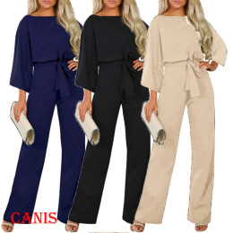 High Waist Fashion Long Sleeve Jumpsuit Loose