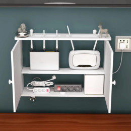 Creative hole-free wall shelf
