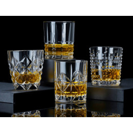Crystal glass whiskey glass