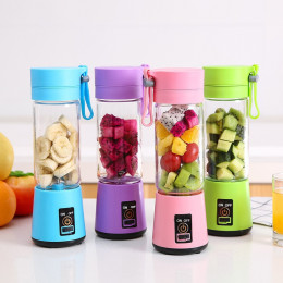 Portable 4 Blades Rechargeable Fruit Mixing Juicer Blender