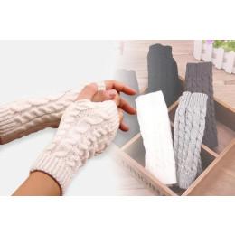 Women fashion hand warm winter needle knitting fingers gloves