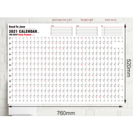 2021 Block Year Planner Daily Plan Paper Wall Calendar  for office school Home