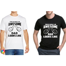 Mens This is what an awesome dad looks like T-Shirt