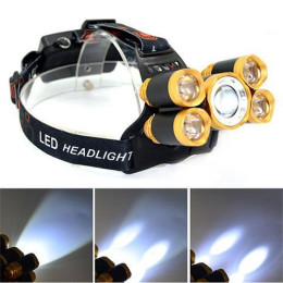 5 LED Headlamp Fishing Headlight T6 Torch