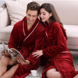 Coral Fleece Loose Long Bathrobe