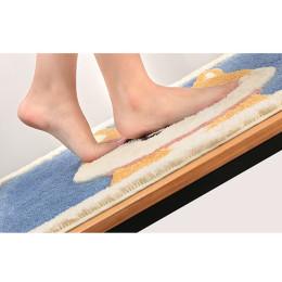 Cartoon Bath Mat Flocking Anti-Slip Doormat