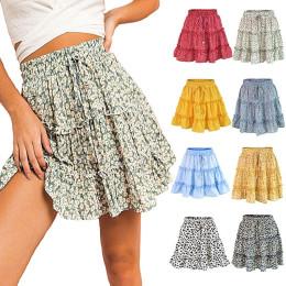 Women Fashion High Waist Frills Skirt for Women Broken Flower Half-length Skirt