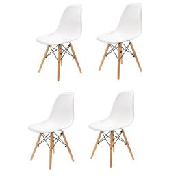 4 stk. Moderne spisebordsstole