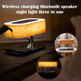 10W Bedside Lamp With Bluetooth Speaker and Wireless Charger