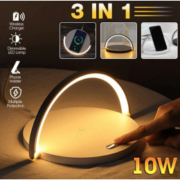 Modern Led Table Lamp For Bedroom - Wireless Charging, Bluetooth Speaker and Bedside Lamp