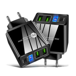 2.4A dual USB fast charge mobile phone charger