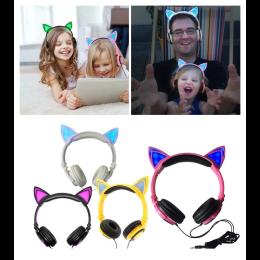 Glowing cat ear Foldable Flashing headphones