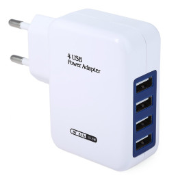 USB Smart Charger 4 Ports EU Plug Wall Adapter