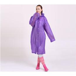 EVA Transparent Raincoat Portable Outdoor Travel Rainwear