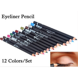 12 colors eyeliner pencil waterproof
