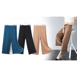 Women Chiffon Wide-Leg Pants