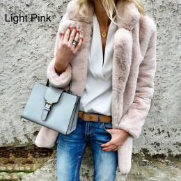 Women Faux Fur Coat Autumn Winter Fluffy Warm Plush Teddy Jackets
