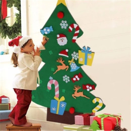 DIY Felt Christmas Tree New Year Gifts Kids Toys Artificial Tree