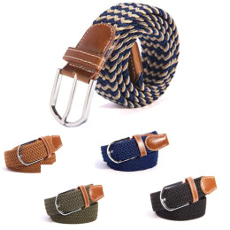 Fashion Unisex Casual Knitted Woven Belt