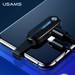 USAMS Dual for Lightning Adapter 2 in 1 Audio Charging for iPhone