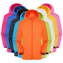 Candy Color Windproof Ultra-Light Rainproof Windbreaker Hooded Coat Jackets