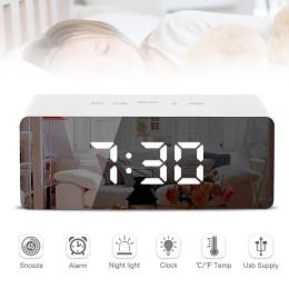 Mute electronic desktop desk clock creative digital display makeup mirror alarm clock