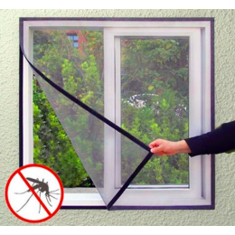 Window screens, magnetic door curtains, velcro, self-installing curtains for household use