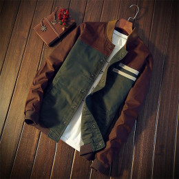 Men's jacket Cultivate color matching collar jacket baseball uniform