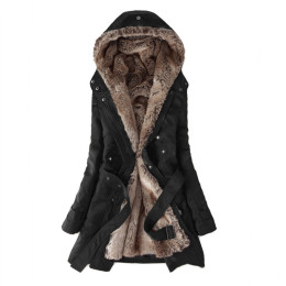 Women  Warm Long Sleeve  parkas cotton Winter Jacket