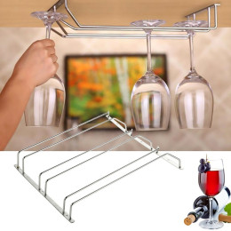 Stainless Steel Wine Glass Holder Hanging  Stemware Rack