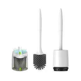 Toilet Brush Rubber Head Holder Cleaning Brush