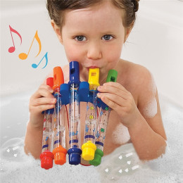 Water Flute Toy Kids Children Colorful Water Flutes Bath Tub Tunes Toys