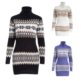Women's Sweaters Fashion Long-Sleeved Printed Sweater Long Section