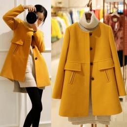 Women Winter Oversized O-neck Coat Slim Thickening  Trench Jacket