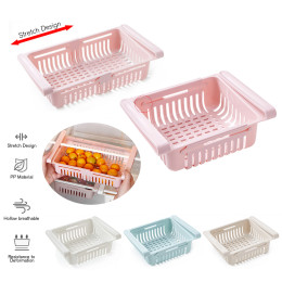 Adjustable Refrigerator Rack Plastic Storage Rack Kitchen Vegetable Organizer