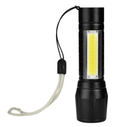 Mini USB Rechargeable XPE+COB LED Flashlight Torch