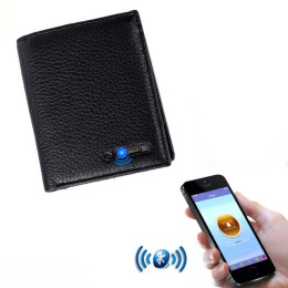 Anti-lost positioning Genuine Leather wallet