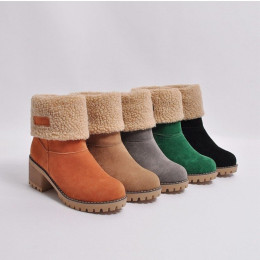 Women's Boots Thick With The Middle  Shoes Warm Cotton Boots