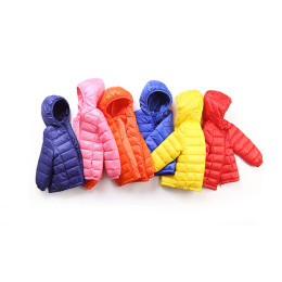 Kids Jacket Hood 90% Duck Down Coat Winter Children Jacket Outerwear