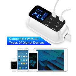 8 Ports USB fast charger quick charge station