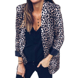 Women Sexy snake-print leopard long-sleeved blouse