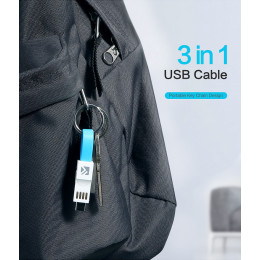 3 in 1 Floveme Magnetic keychain data cable